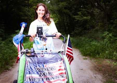«I walk across the country for the veterans»